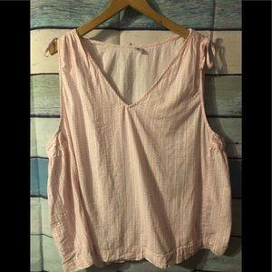 Cotton sleeveless old navy top XXL